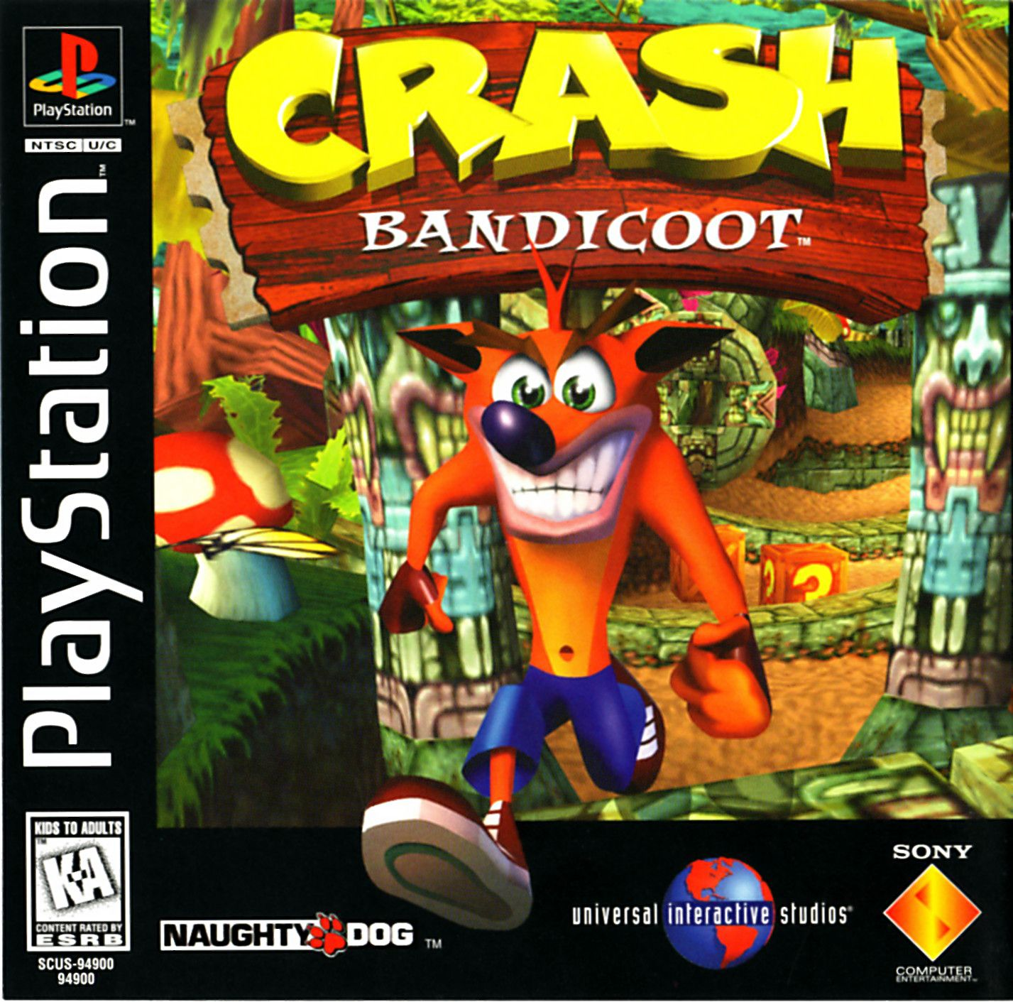 Crash Bandicoot Boxart High Res Front And Back Crash Bandicoot Ps1 Crash Bandicoot Bandicoot
