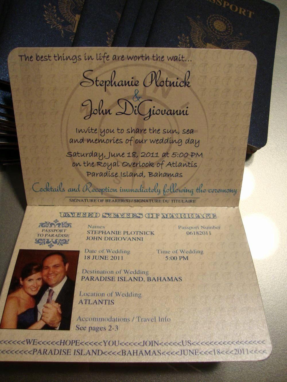 Passport Wedding Invitation Template Luxury 1st Page Of Passport Invite Passport Wedding Invitations Passport Invitations Passport Wedding