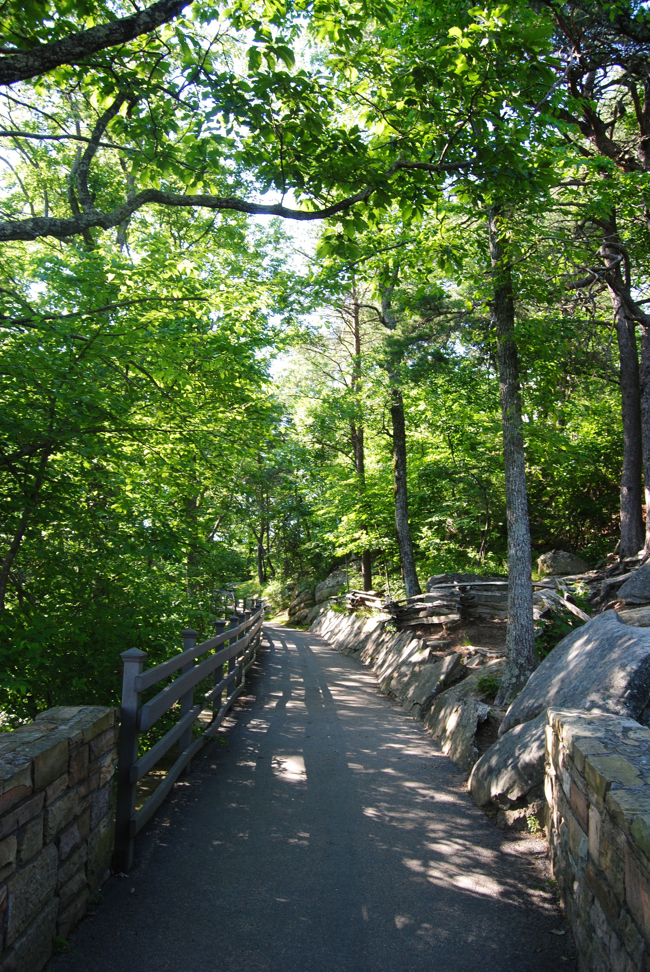 Path heading down from the overlook (Cumberland Gap National Historic Park)
