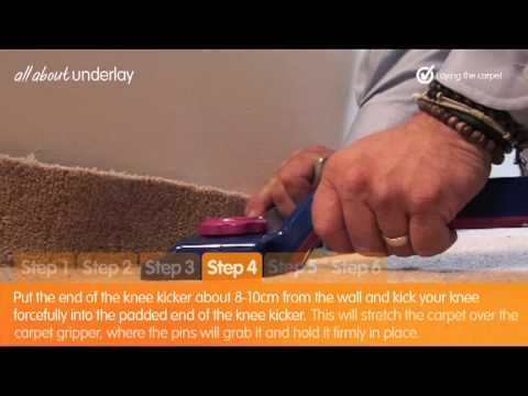 Simple Guide To Laying Carpet Underlay Part 3 Laying The Carpet Carpet Underlay How To Lay Carpet Carpet