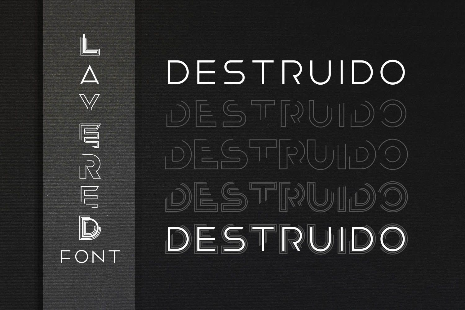 Destruido Is A Cool And Unique Display Font With A Bold Feel Get