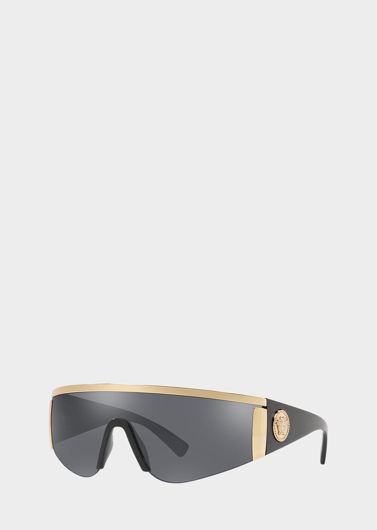 972b361b6c3 Versace Gray Tribute Visor Sunglasses
