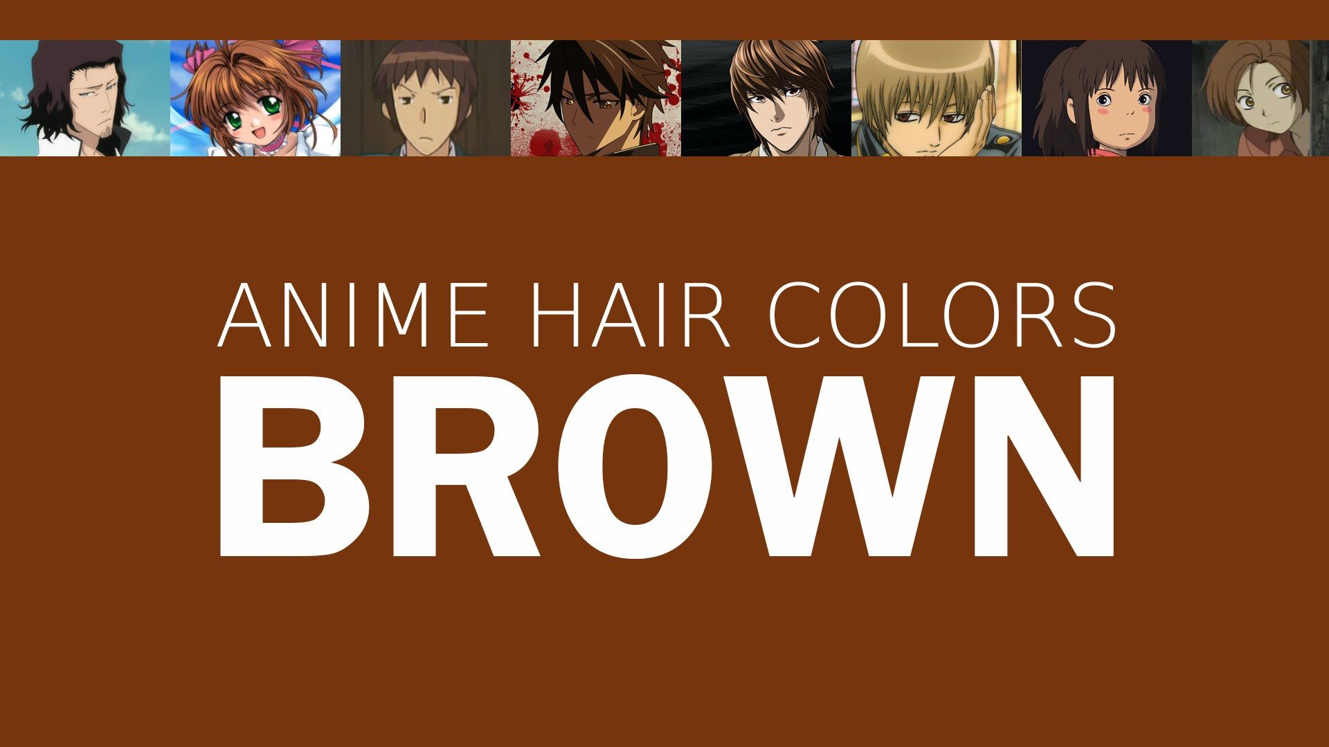 Hair Color in Anime Characters Brown, Meaning