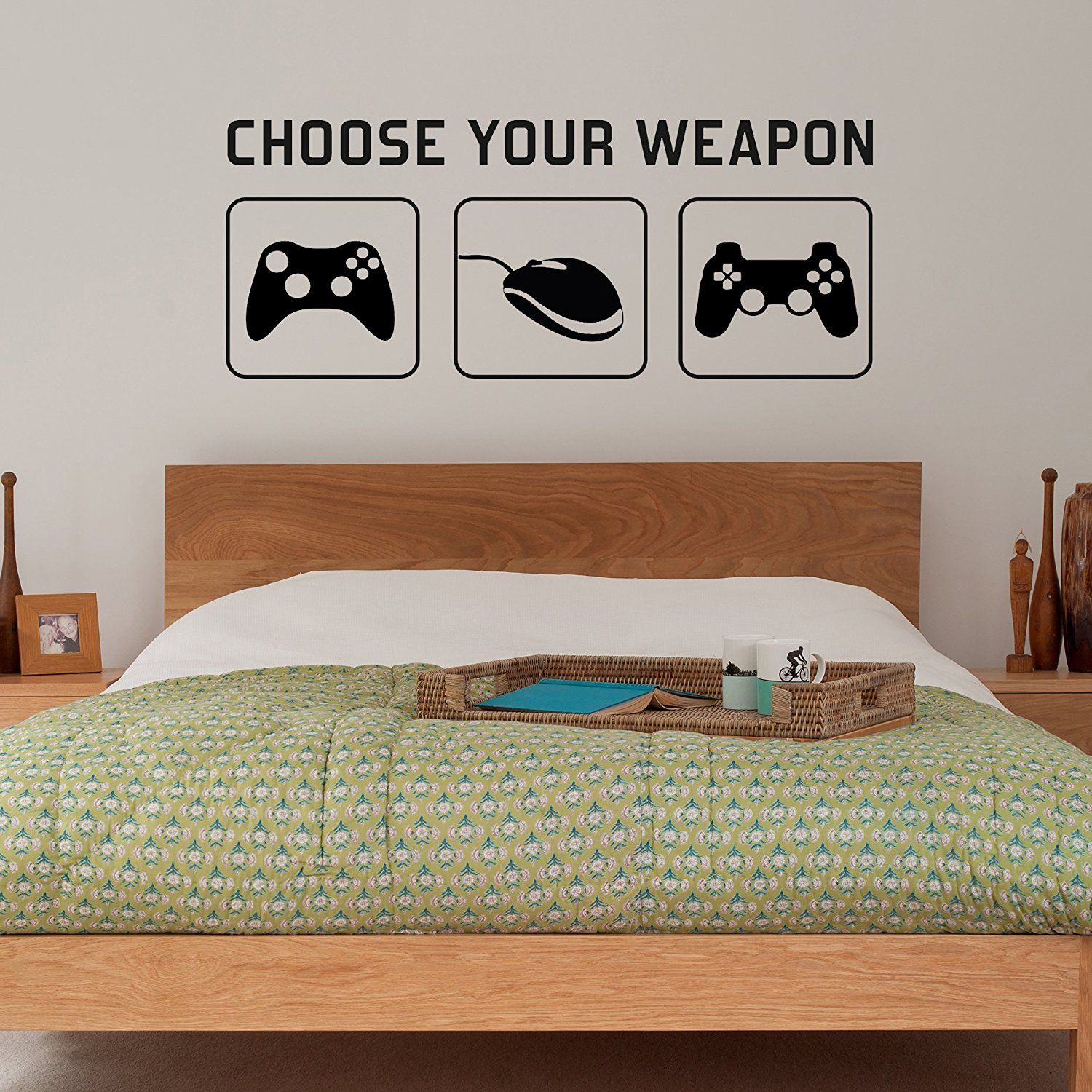 "Radecal""Choose your weapon "" Video Gaming Vinyl Decal Wandsticker"
