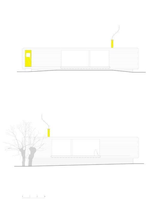 Casa B,Fachadas - Longitudinais