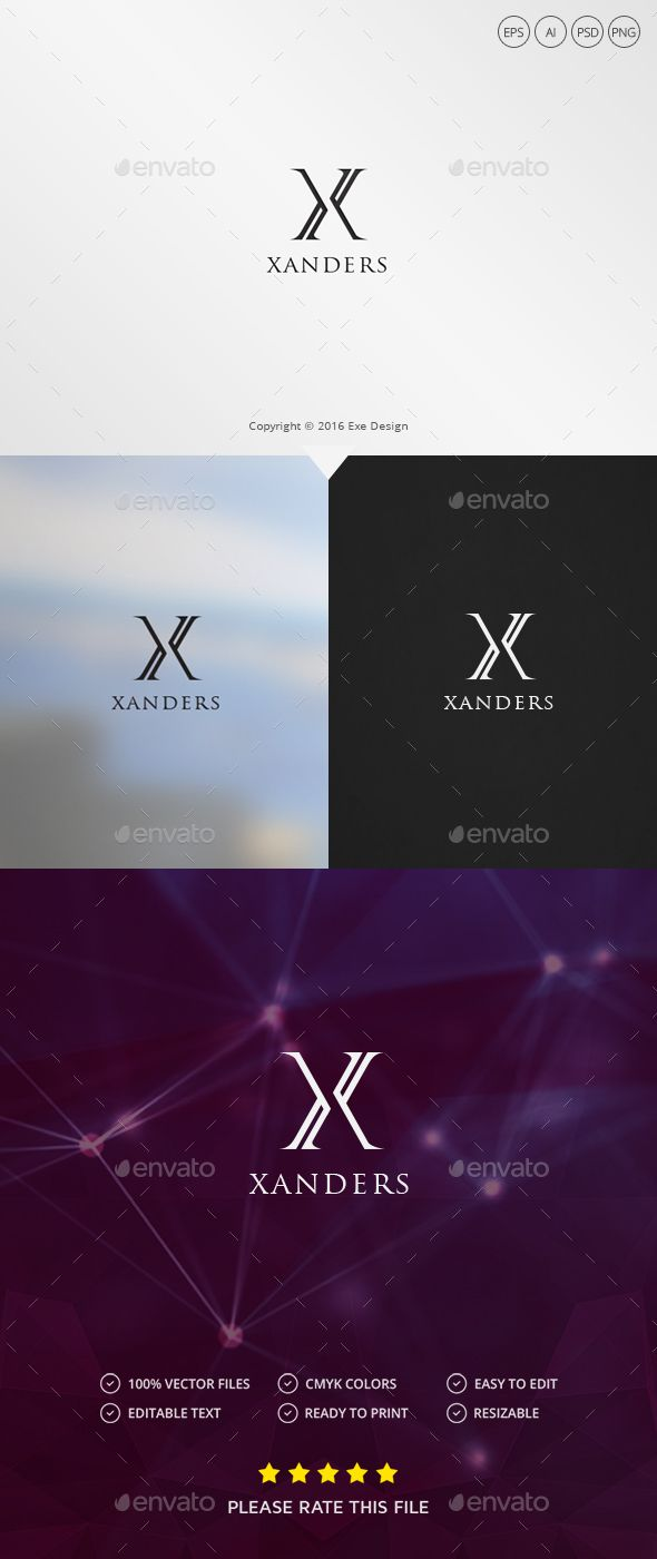 Abstract Letter X Logo Design Template