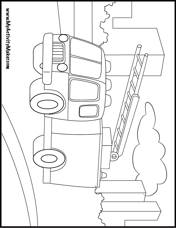 Coloring Pages Transportation My Activity Maker Taşıtlar Trafik
