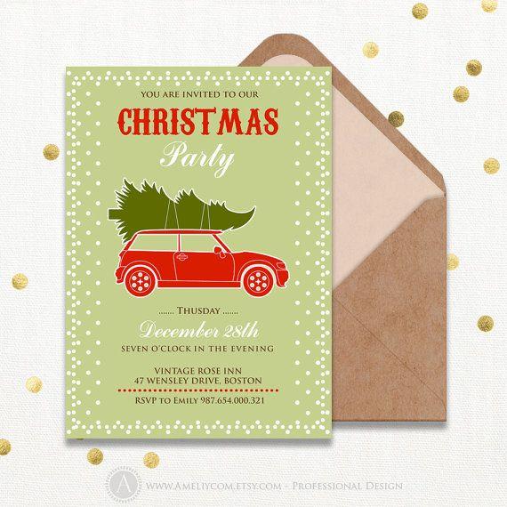 Christmas Invitation Printable Printable Christmas by AmeliyInvite