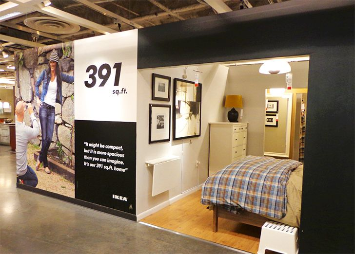 Studio Apartment Ikea photos: see inside ikea brooklyn's tiny 391 sq. ft. model apar