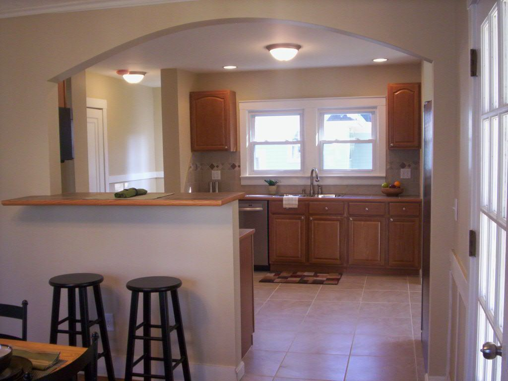 Making A Half Wall Into A Breakfast Bar Flipping Crazy Real Estate Investing Blog Flip This House Kitchen Remodel Layout Kitchen Bar Design Small Kitchen