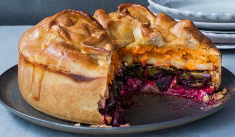Goodwill Pie. Christmas Day is all about lunch and this show stopper of a pie tastes even better than it looks. Like all good things (and Christmas dinners), it does require a bit of time and love but the beauty here is everything can happen at once.