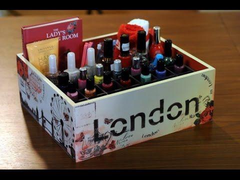Pintura sobre madera como decorar una caja para manicure - Como decorar una caja de madera ...