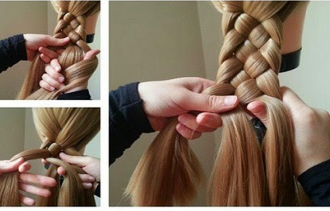 4 Stranded Braid Or In Other Words Celtic Knot Braid Is Now Getting More Popular In The Braiding Your Own Hair Braided Hairstyles Braided Hairstyles Tutorials