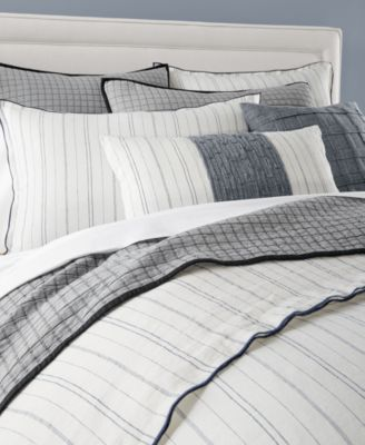 Closeout Hotel Collection Linen Ticking Stripe Bedding Collection Created For Macy S Bed Linens Luxury Bed Linen Design Ticking Stripe Bedding