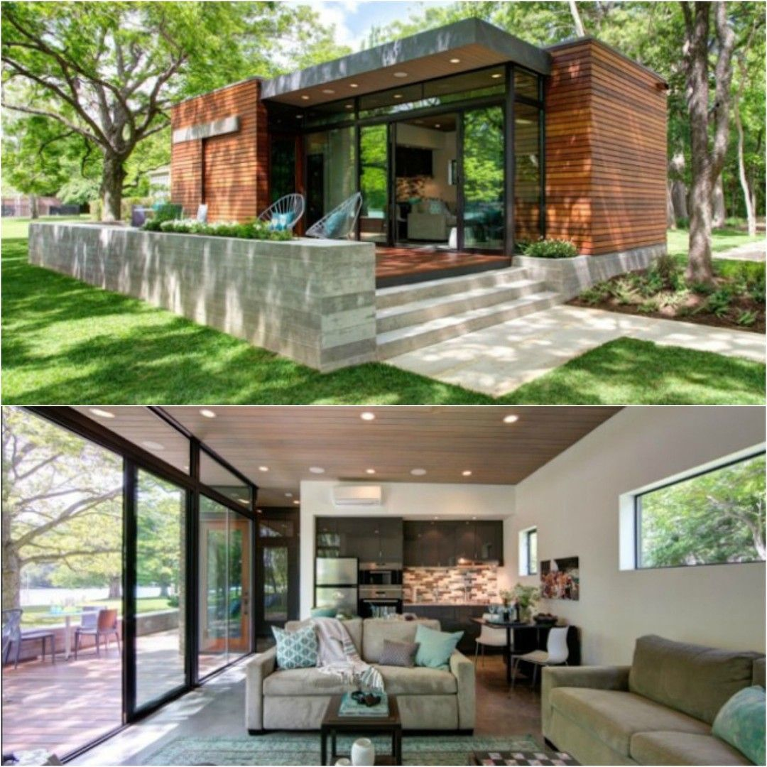 Pin By Christopher Hill On Container Hauser Small Contemporary House Plans Tiny House Luxury Tiny House Talk
