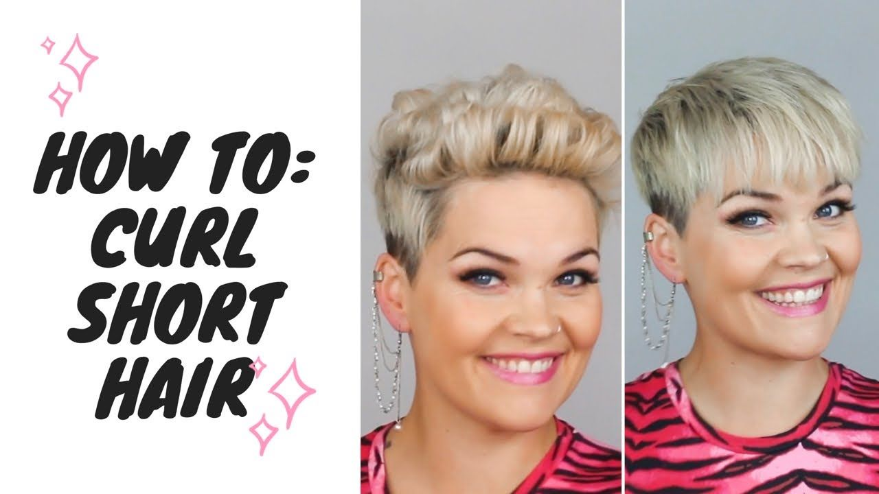 How I curl my super short hair with a mini straightener