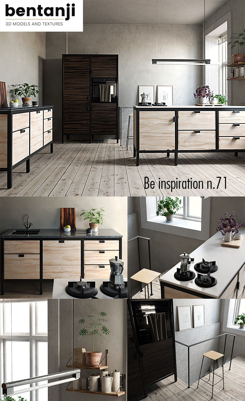 Be inspiration set n 71 kitchen 3d model | 3d model | $32 00
