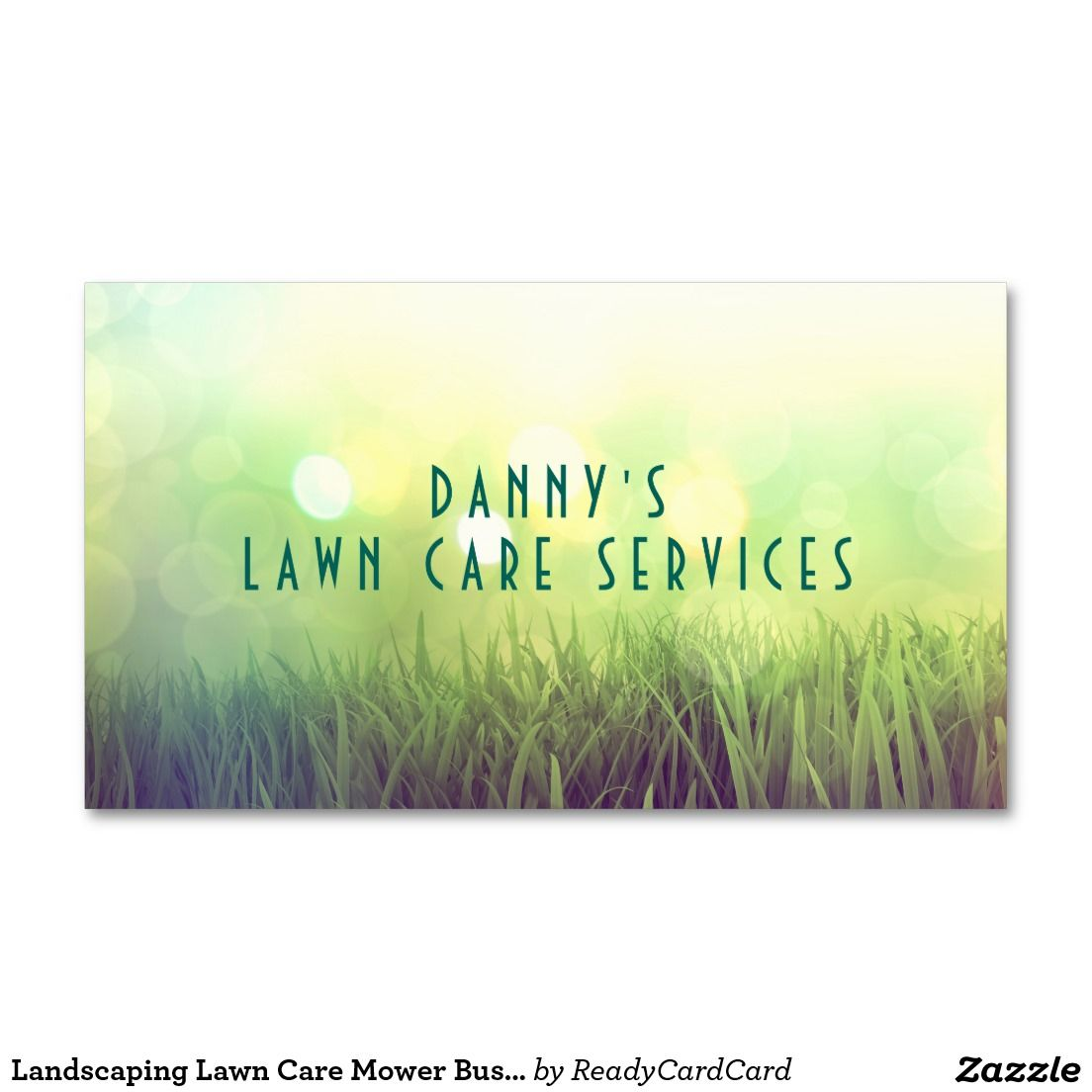 Landscaping Lawn Care Mower Business Card Template | Lawn care, Card ...