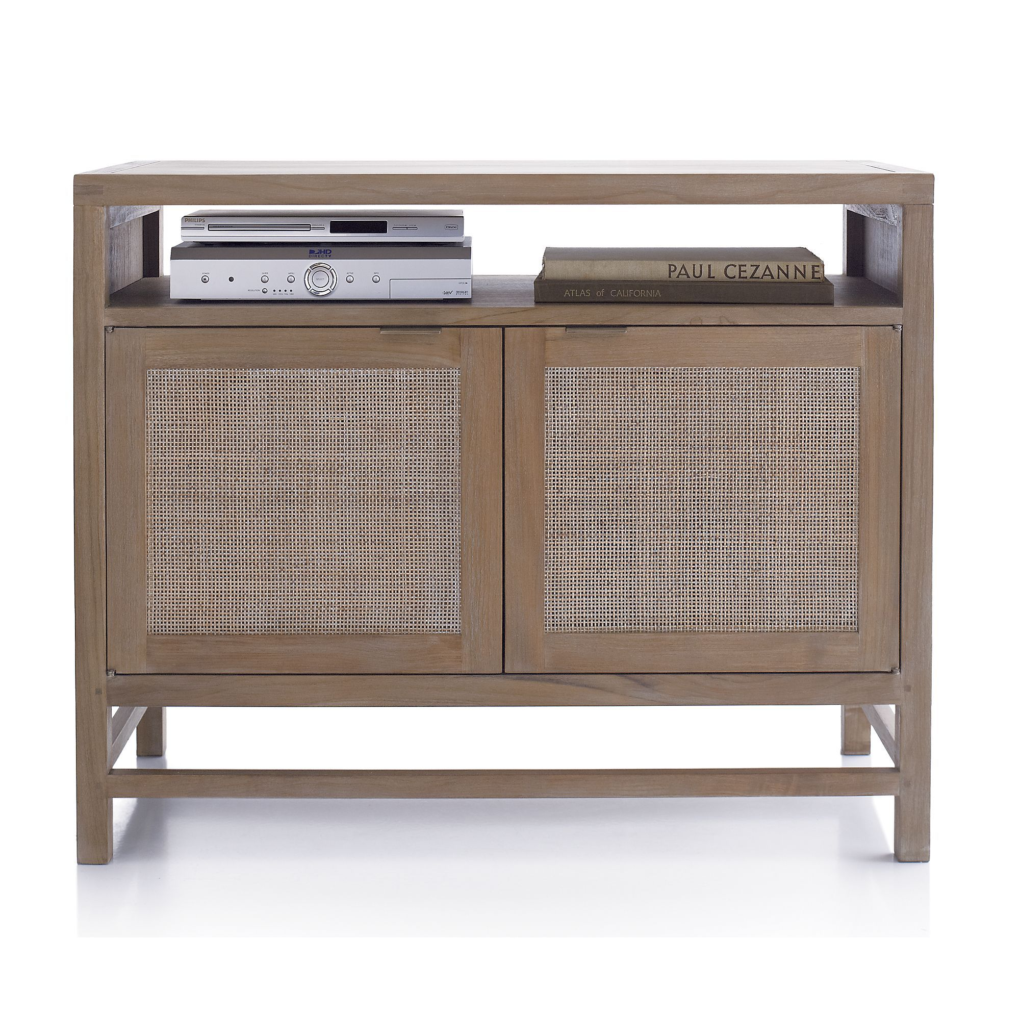 Blake grey wash 42 media console crate and barrel living room blake grey wash 42 media console crate and barrel geotapseo Choice Image