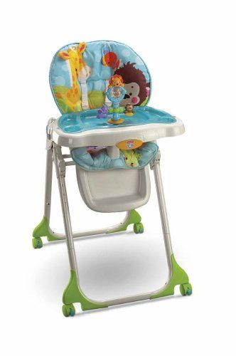 fisher price rainforest healthy care high chair 2 grey modern dining chairs buy cheap discounted precious planet with reviews safest