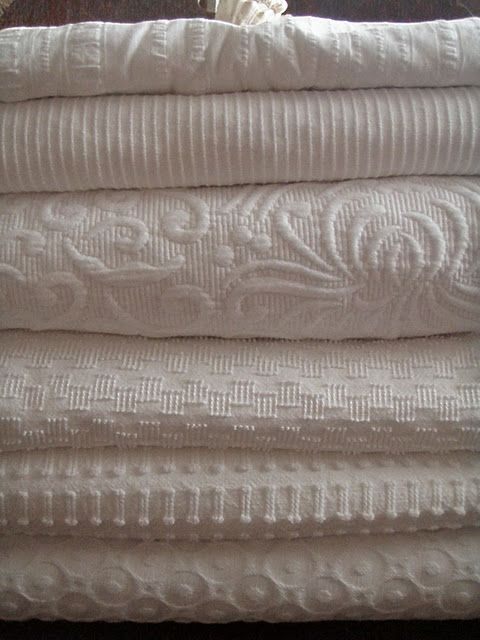 White Coverlets Third One Down Is Mine Made In