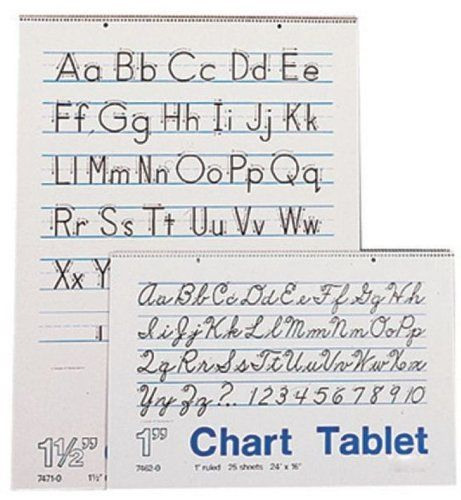 School Smart Lined Chart Tablet - 1 inch Rule - 24 x 16 inches - lined chart paper