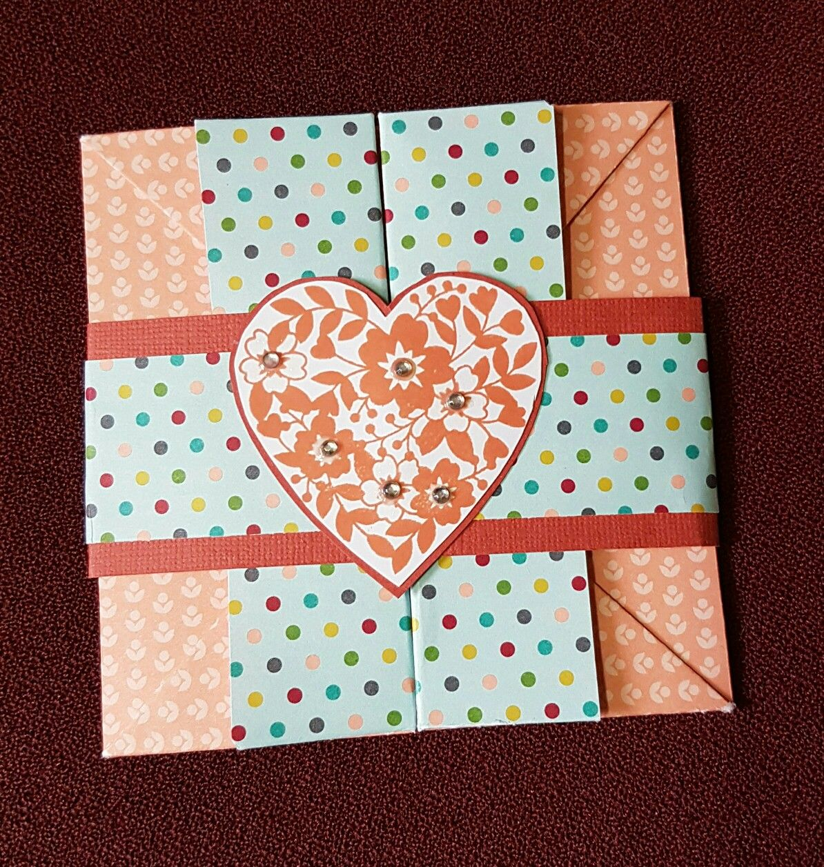 Closed Folded box  card  using  Stampinup products