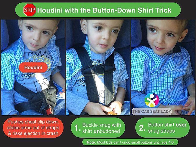 Car Seat Houdini Strap Chest Clip