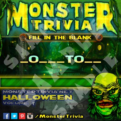 17 best images about halloween trivia vol1 on pinterest trivia halloween trivia and the ojays - Halloween Monster Trivia