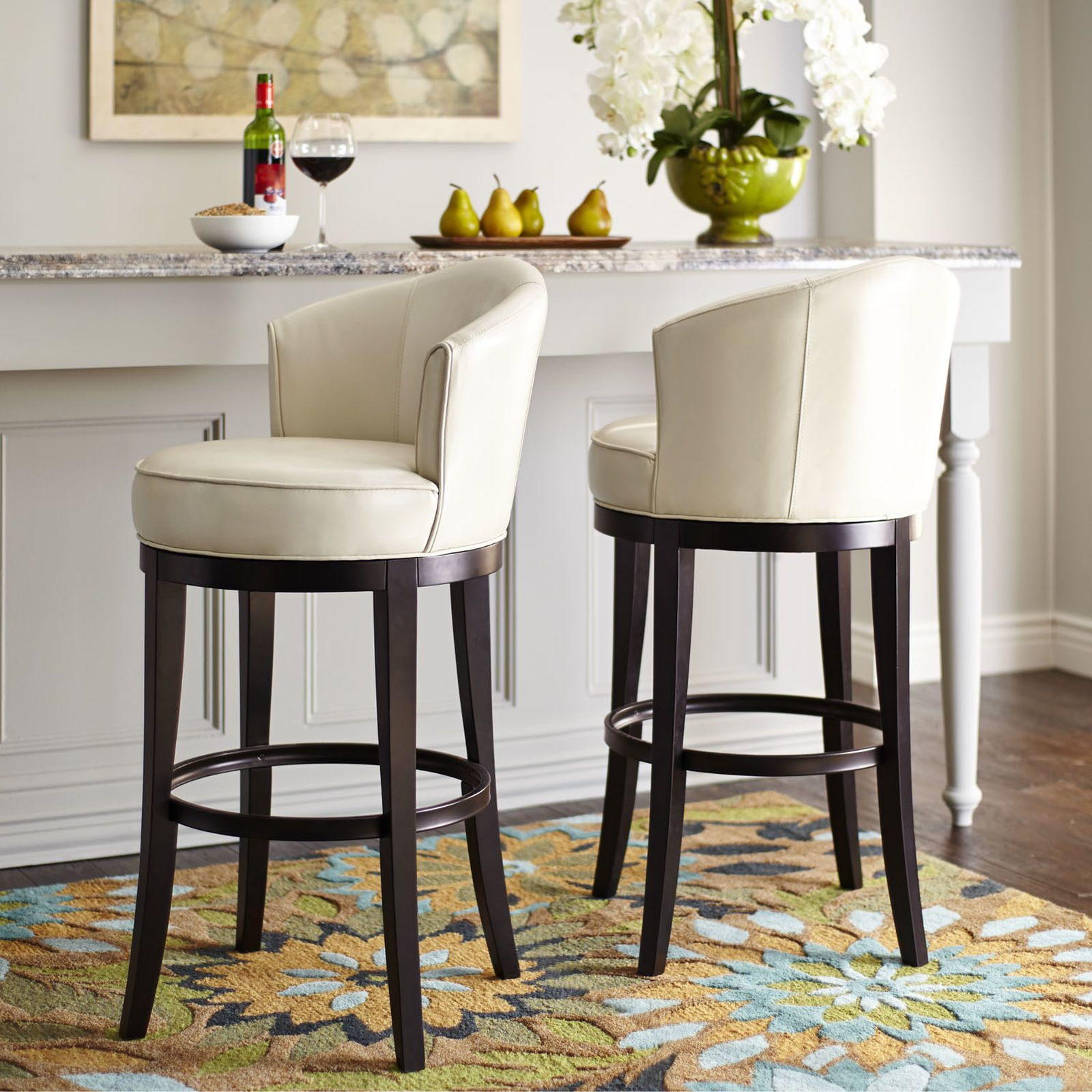 Bar Stools For White Kitchen: Isaac Ivory Swivel Bar Stool