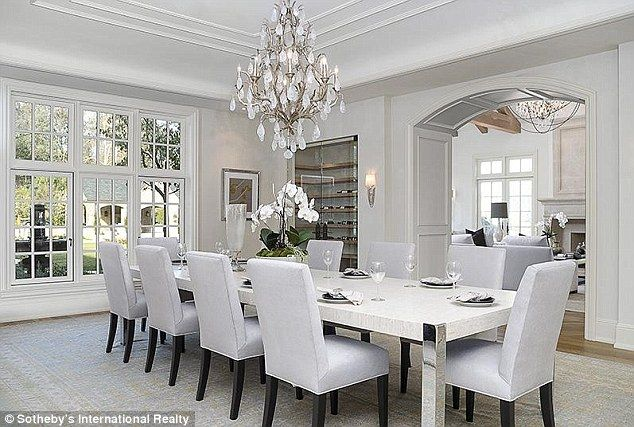 All White Everything Their Family Will Enjoy The Elegant Surroundings In Formal Dining Room