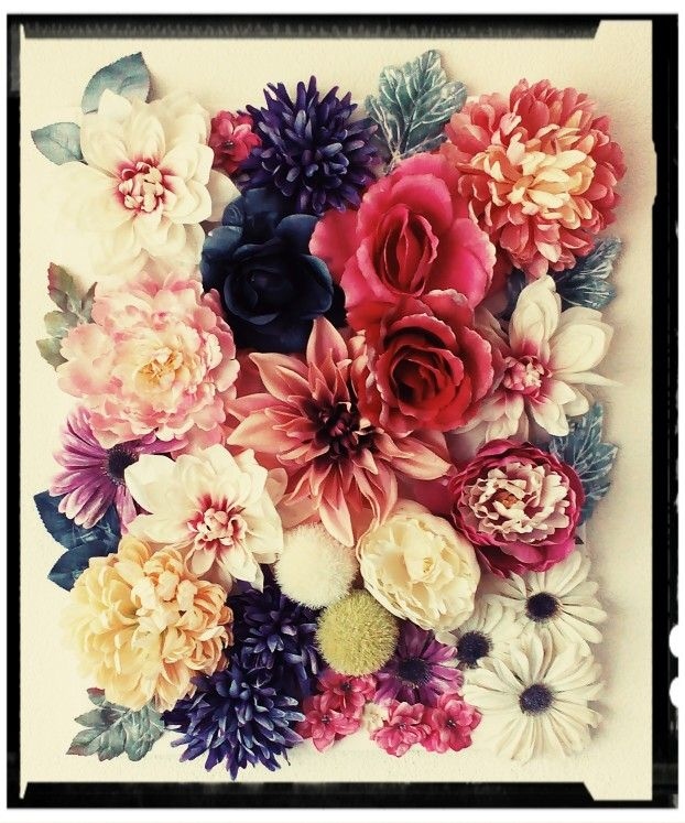 3d Wall Art Plastic Flower On Canvas Floral Wall Art Diy Diy Art Projects Canvas 3d Wall Art Flowers