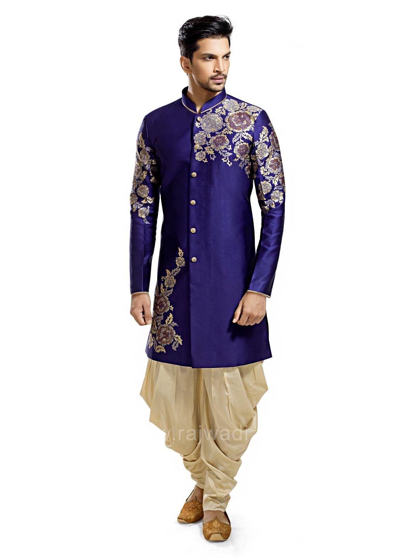 Blue color kurta with patiala rajwadi patialasuit classic