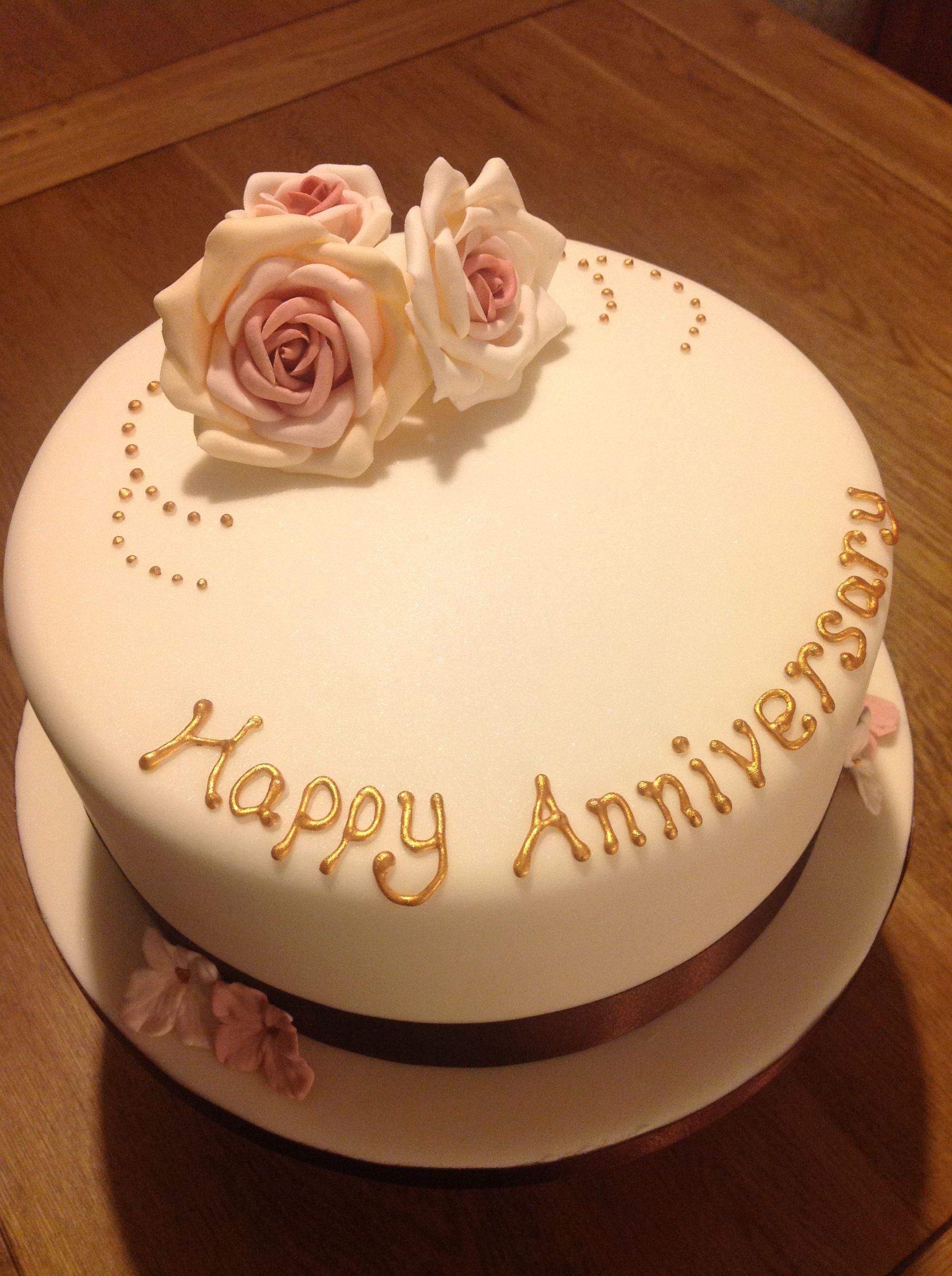 Golden wedding anniversary cake Wedding anniversary