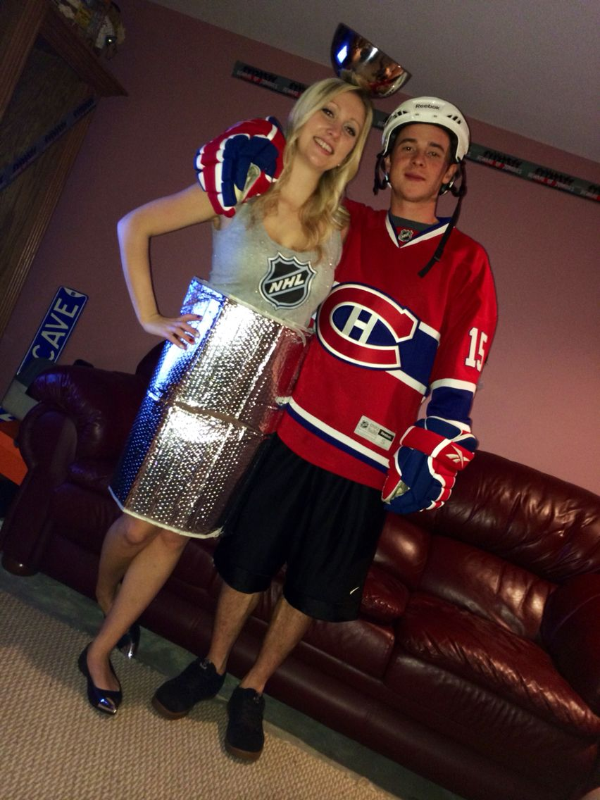 Stanley Cup And Hockey Player Costume Costumes Cool Halloween Costumes Joker Halloween Costume