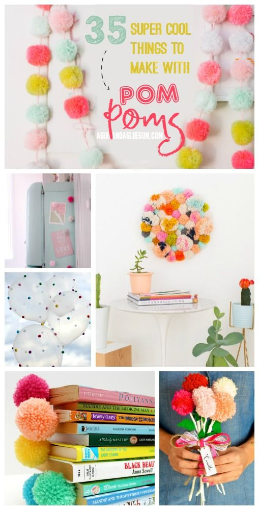 35 Super Cool Pom Pom Projects Pom Pom Crafts Crafts Easy Crafts