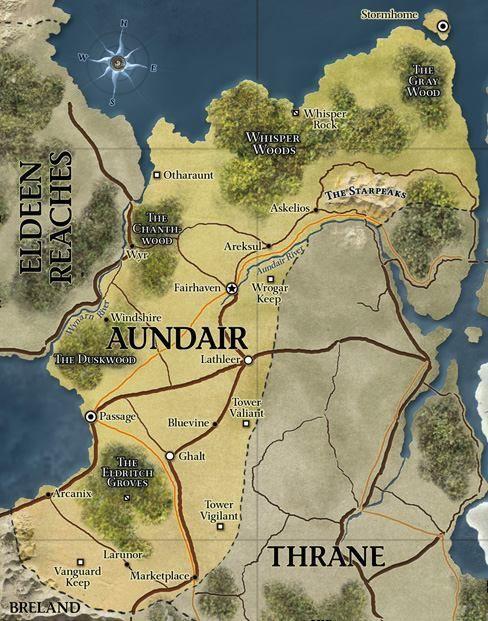 Aundair   Eberron - Maps in 2019   Fantasy map, Fantasy world map
