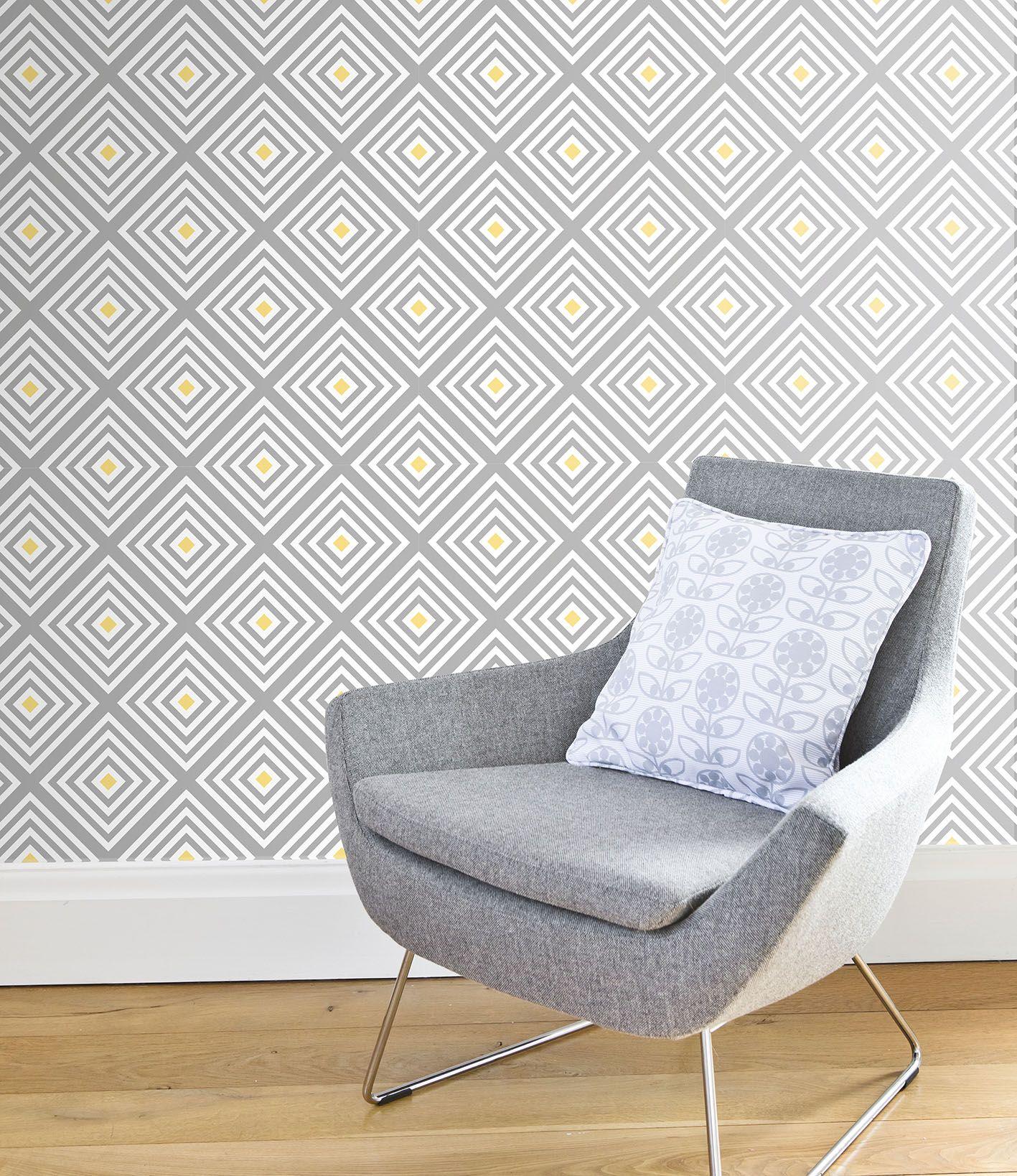 Diamond Wallpaper From Layla Faye Laylafaye Retro Modern And Mid Century Designs