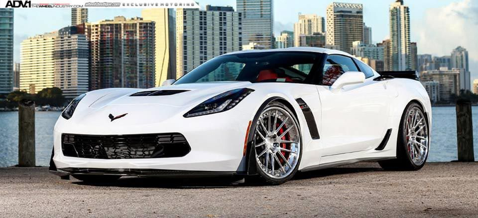 Pics Shock And Awe Arctic White Corvette Z06 On Polished