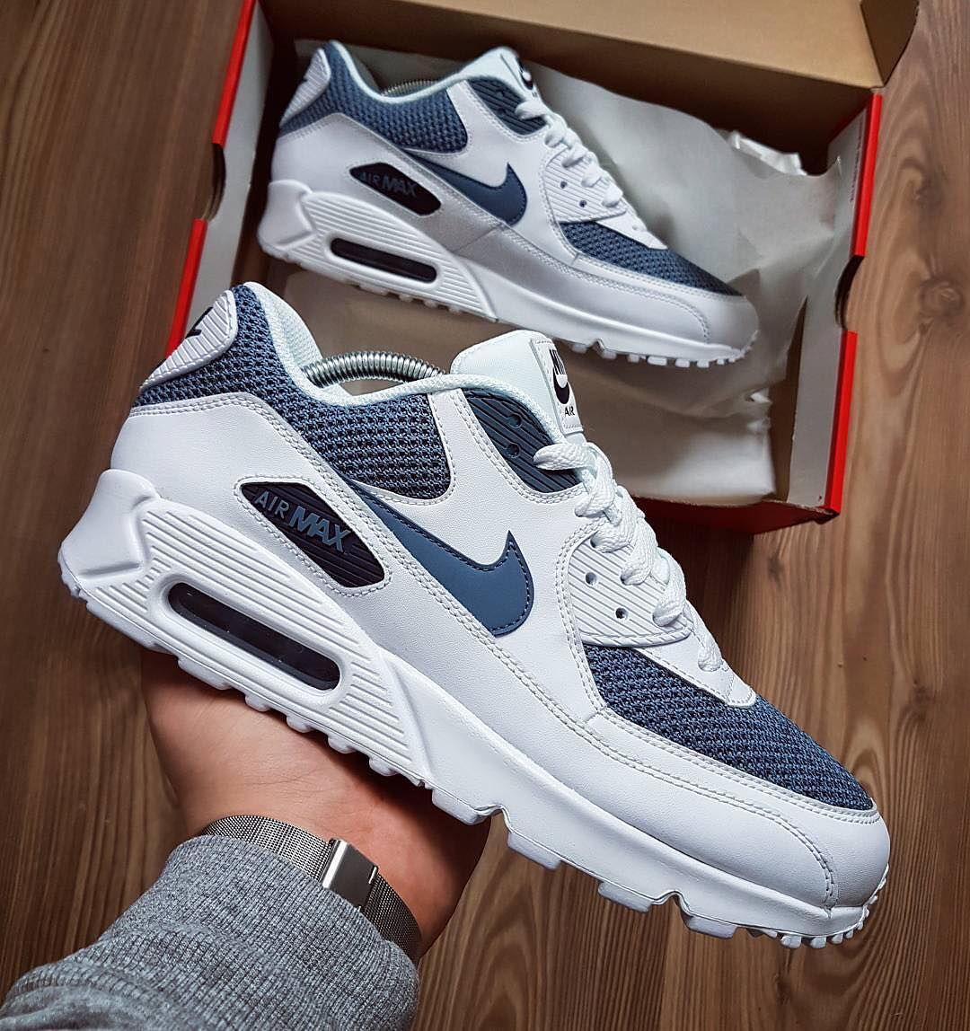Gris Zapatos De Estilo Nike Air Max 90 Mesh Gs Para Mujer