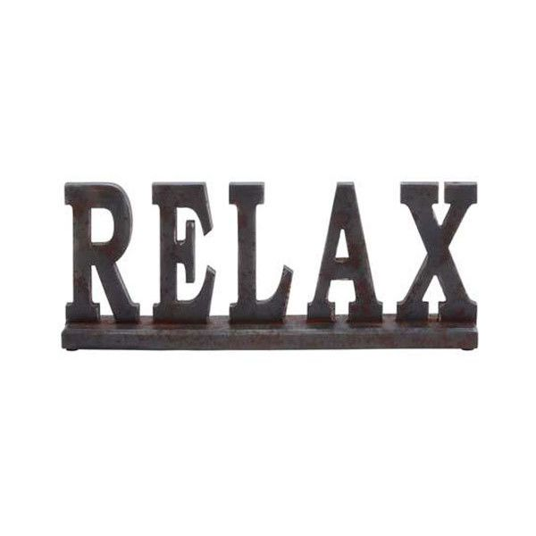 Dot & Bo Rustic Relax Table Sign ($33) ❤ liked on Polyvore featuring home, furniture, tables, accent tables, wooden furniture, wood table, rustic wooden furniture, wooden accent table and wood furniture