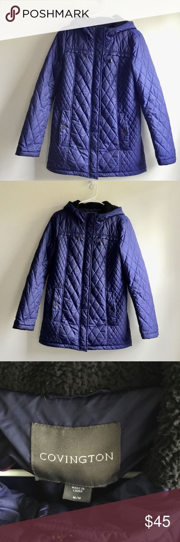 Covington Puffer Long Jacket This Is A Quilted Longer Length Jacket It Has A Fuzzy Hood Pockets And Has A Double Zipper Long Jackets Clothes Design Jackets [ 1740 x 580 Pixel ]