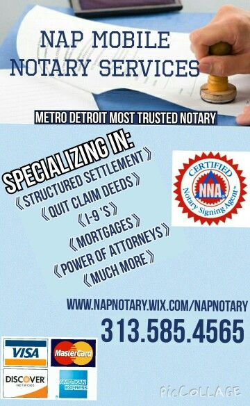 My New Flyer For Notary Business Detroit Notary Public Loan Signing Agent Notary