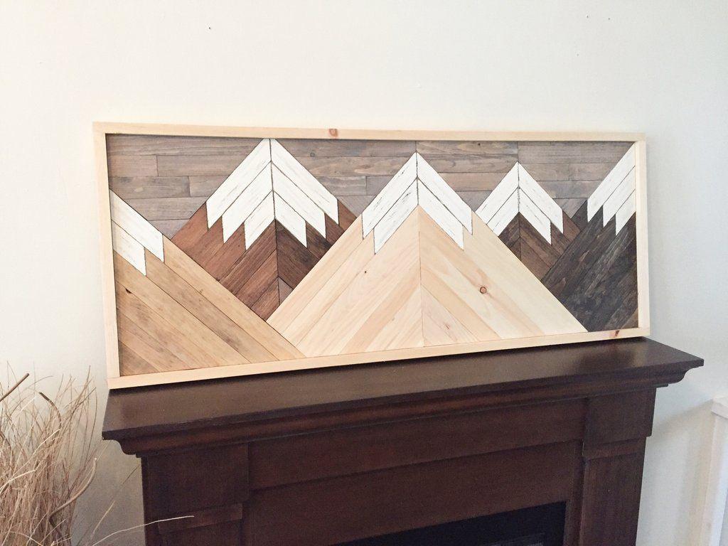 Mountain Range Wood Wall Art Rustic Wall Art Reclaimed Wood Wall Art Wood Wall Art