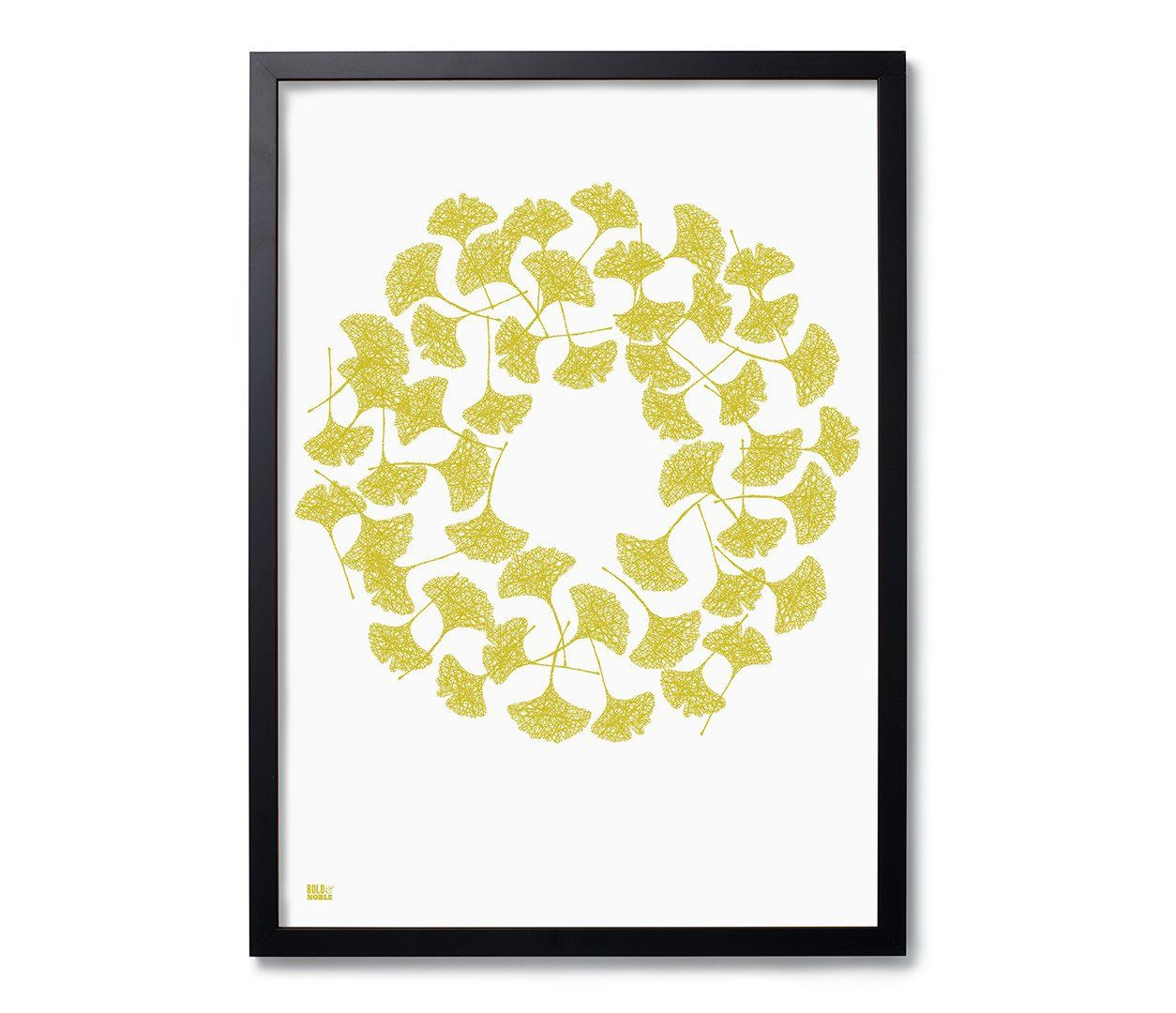 Ginkgo\' Art Print in Yellow Moss   Excellent customer service ...