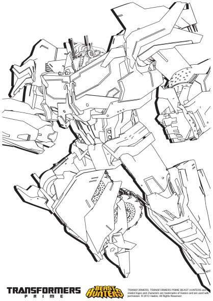 coloriage transformers prime beast hunters : optimus prime 3 (3/37 ... - Transformers Prime Coloring Pages