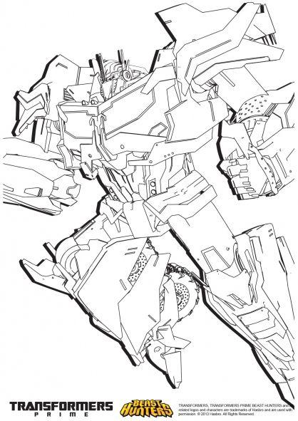 Coloriage Transformers prime Beast Hunters : Optimus Prime 3 ...