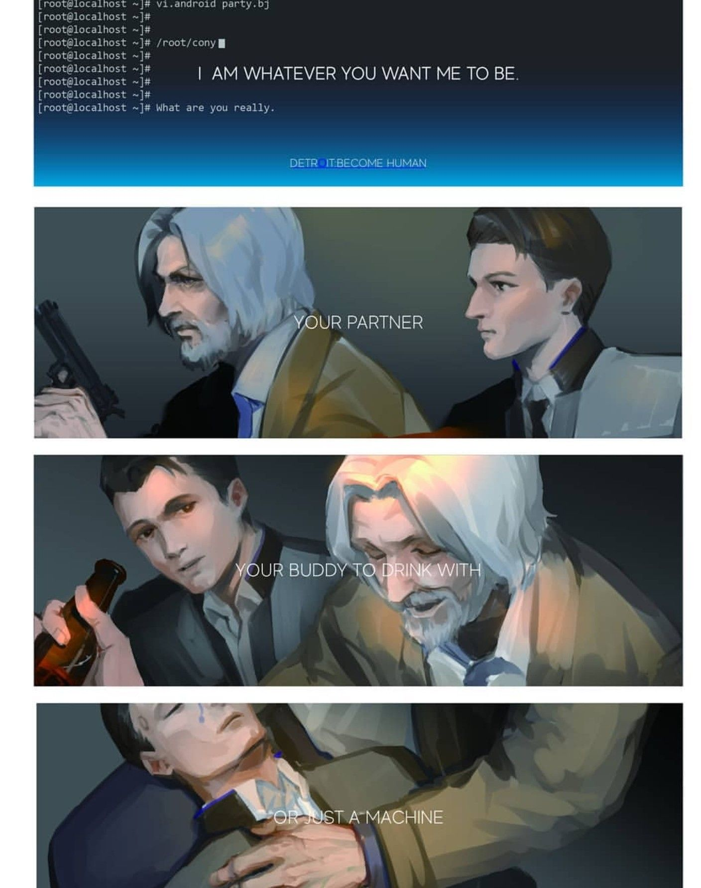 Detroit become human   DBH   Connor and Hank   Detroit Become Human