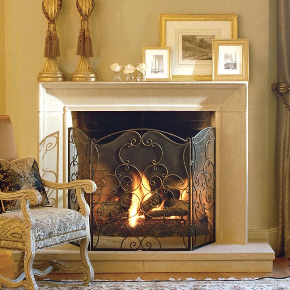 """Small Fireplace Mantel Surrounds: 56"""" Menage Small Fireplace Mantel In 2019"""