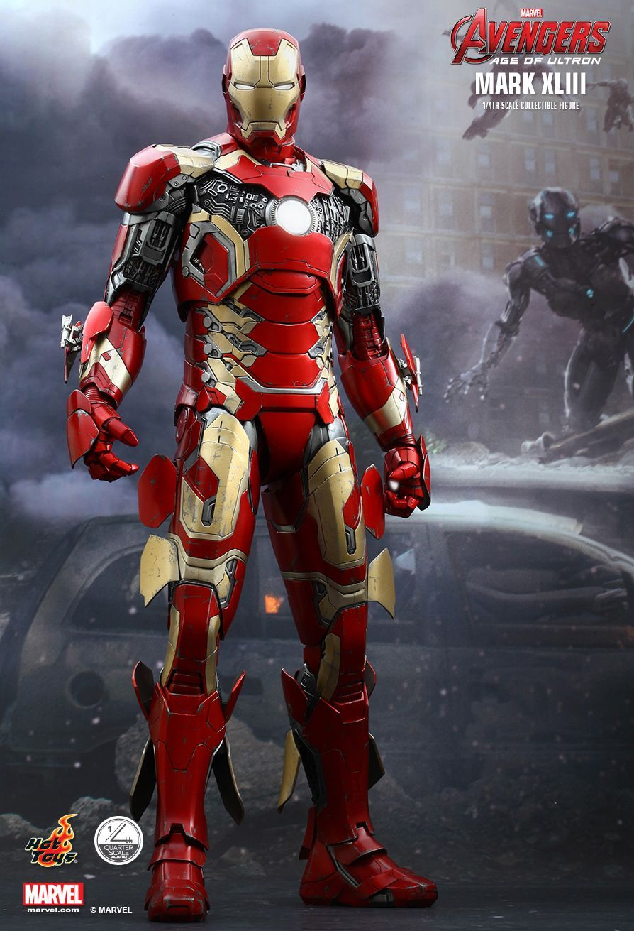 hot toys : avengers: age of ultron - iron man mark xliii 1/4th scale